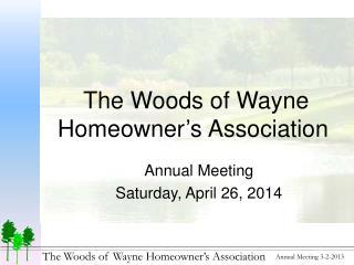 The Woods of Wayne Homeowner's Association