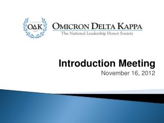 Introduction Meeting