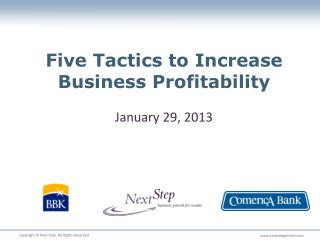 Five Tactics to Increase Business Profitability