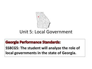 Unit 5: Local Government