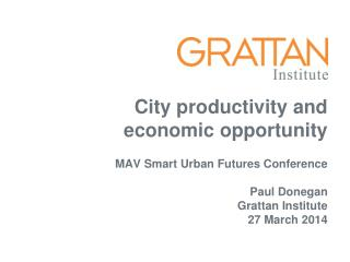 City productivity and economic opportunity