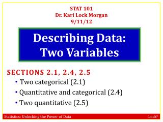 Describing Data: Two Variables