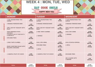WEEK  4  : MON, TUE, WED