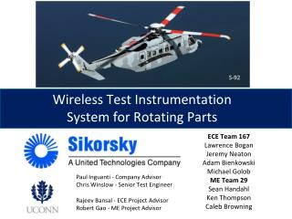 Wireless Test Instrumentation System for Rotating Parts