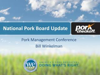 National Pork Board Update