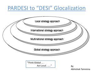 """PARDESI to """"DESI""""  Glocalization"""