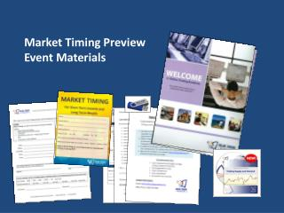 Market Timing Preview Event Materials