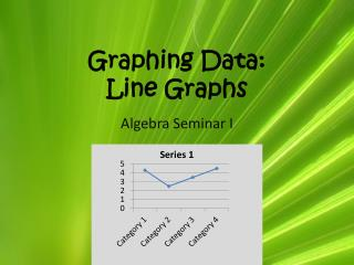 Graphing Data: Line Graphs