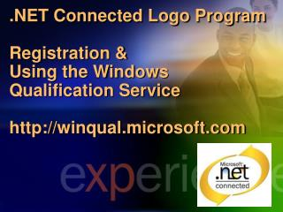 Connected Logo Program Registration