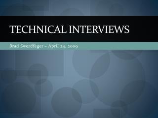 Technical Interviews