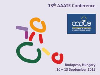 13 th  AAATE  Conference