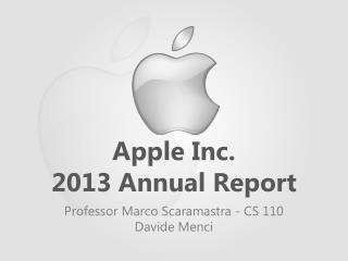 Apple Inc.  2013  Annual  Report
