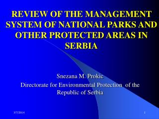 91010 1 REVIEW OF THE MANAGEMENT SYSTEM OF NATIONAL PARKS ...