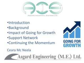 Introduction Background Impact of Going for Growth Support Network Continuing the Momentum Ceara Mc Neela