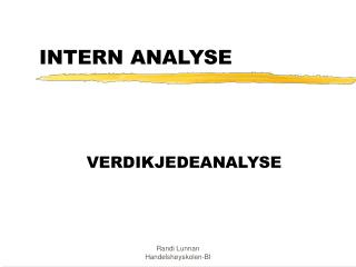 intern analyse