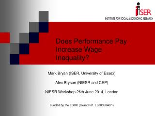 Does Performance Pay Increase Wage Inequality?