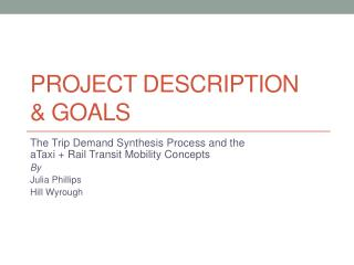 Project description & goals