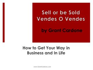 Sell or be Sold Vendes  O  Vendes