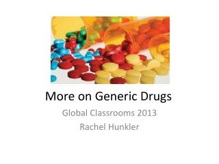 More on Generic Drugs