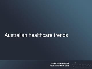 Australian healthcare trends