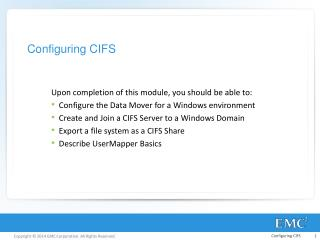 Configuring CIFS