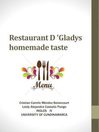 Restaurant D 'Gladys homemade taste