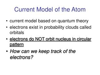 current model of the atom