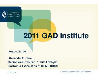 2011 GAD Institute