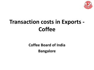Transaction costs in Exports - Coffee