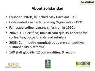 About Solidaridad