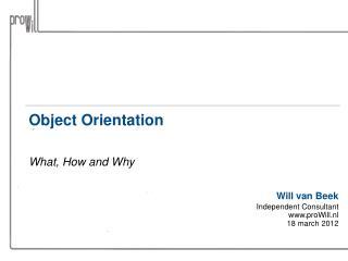 Object Orientation