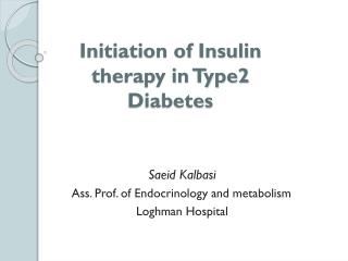 basal insulin therapy