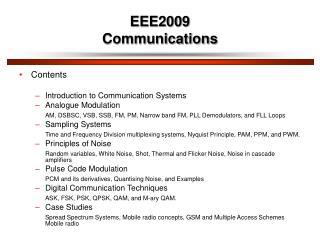 eee2009 communications