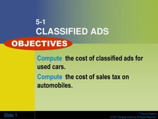 5-1 CLASSIFIED ADS