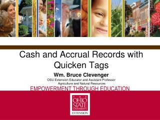 Cash and Accrual Records with  Quicken Tags