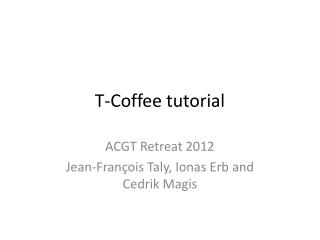 T-Coffee tutorial