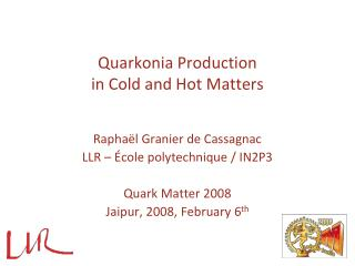 Quarkonia Production  in Cold and Hot Matters