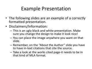 Example Presentation