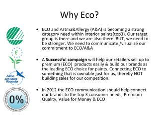 Why Eco ?