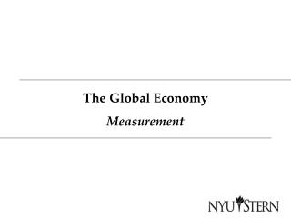 The Global Economy Measurement