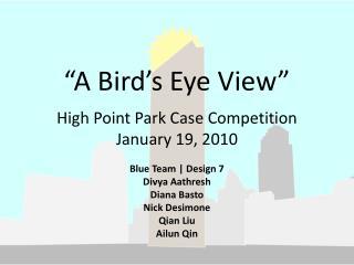 """A Bird's Eye View"""