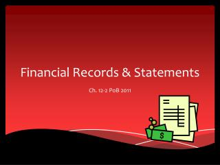 Financial Records & Statements
