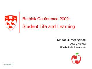 Rethink Conference 2009: Student Life and Learning
