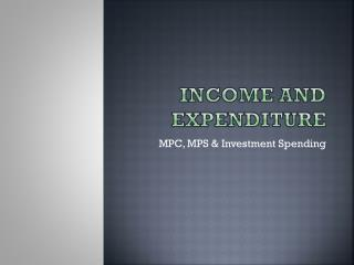 Income and Expenditure