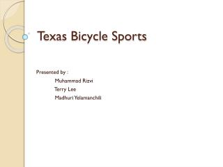Texas Bicycle Sports
