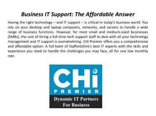 business it support | chi premier ltd.