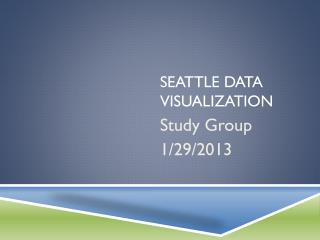 Seattle Data Visualization