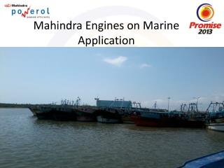 Mahindra Engines on Marine Application