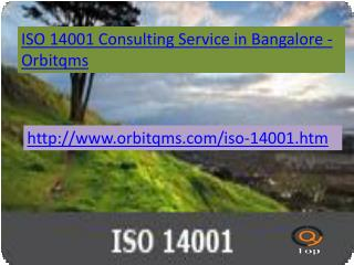 iso 14001 consulting service in bangalore