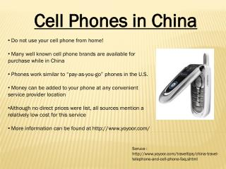 Cell Phones in China